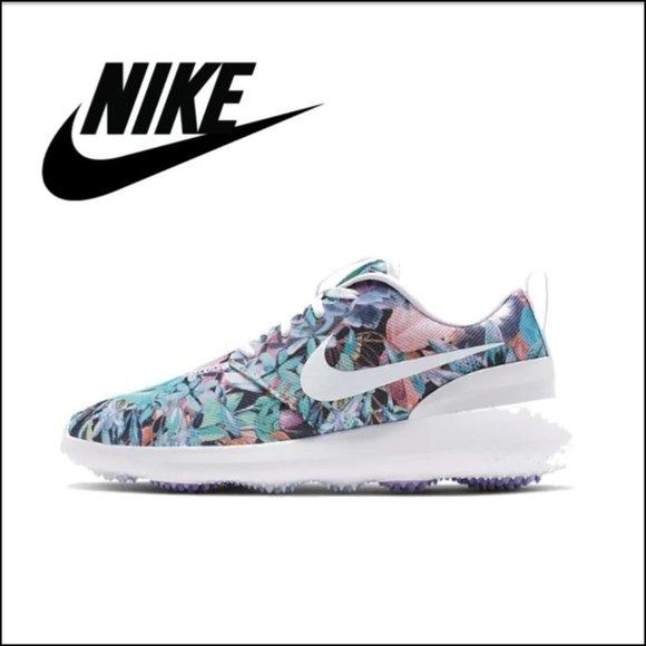 Nike Shoes Roshe G Golf Spikeless Floral White Poshmark